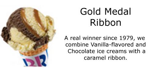Gold Medal Ribbon Ice Cream Cake