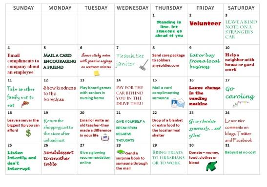 kindness-calendar